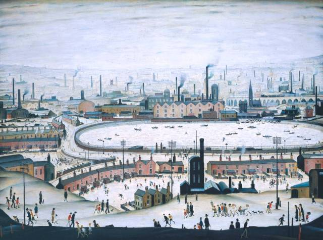 The Pond 1950 by L.S. Lowry 1887-1976